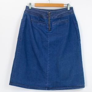 Universal Thread Medium Wash Straight Denim Skirt
